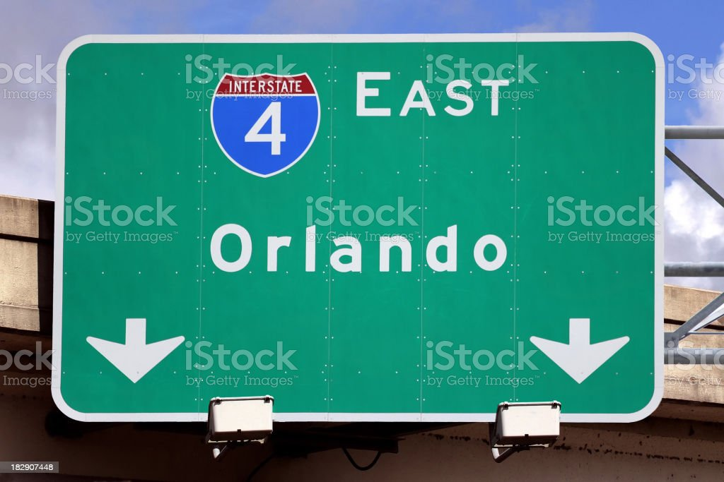 Sign for Orlando stock photo