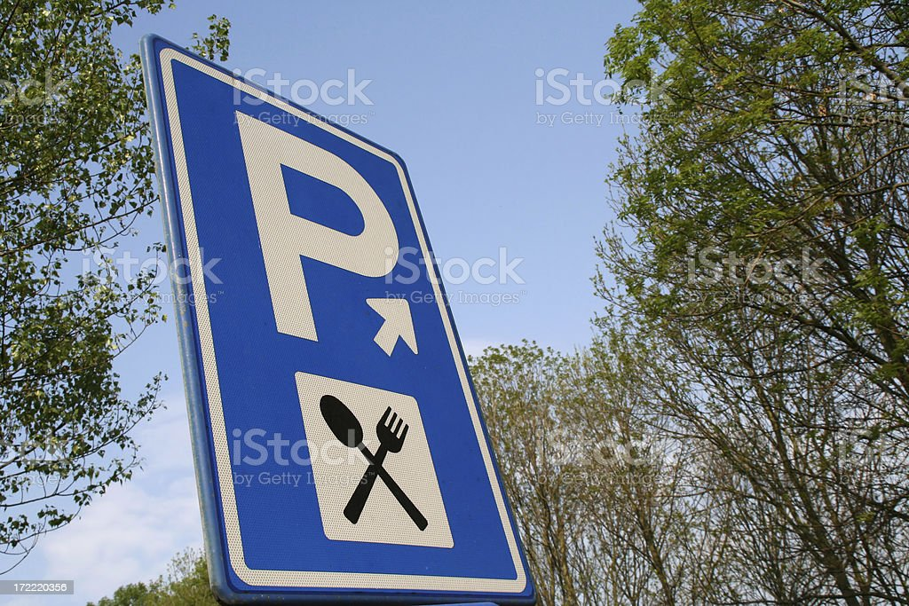 Sign for restaurant # 1 royalty-free stock photo