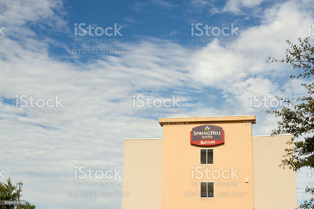 Sign for Springhill Suites, a Marriott brand chain hotel stock photo