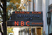 Sign for the Rainbow Room at Rockefeller Center