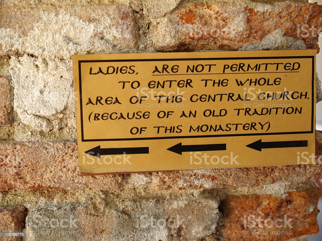 Sign Forbidden entry for women royalty-free stock photo