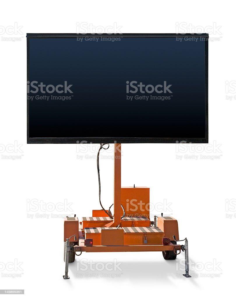 Panneau de générateur avec Blank Message photo libre de droits