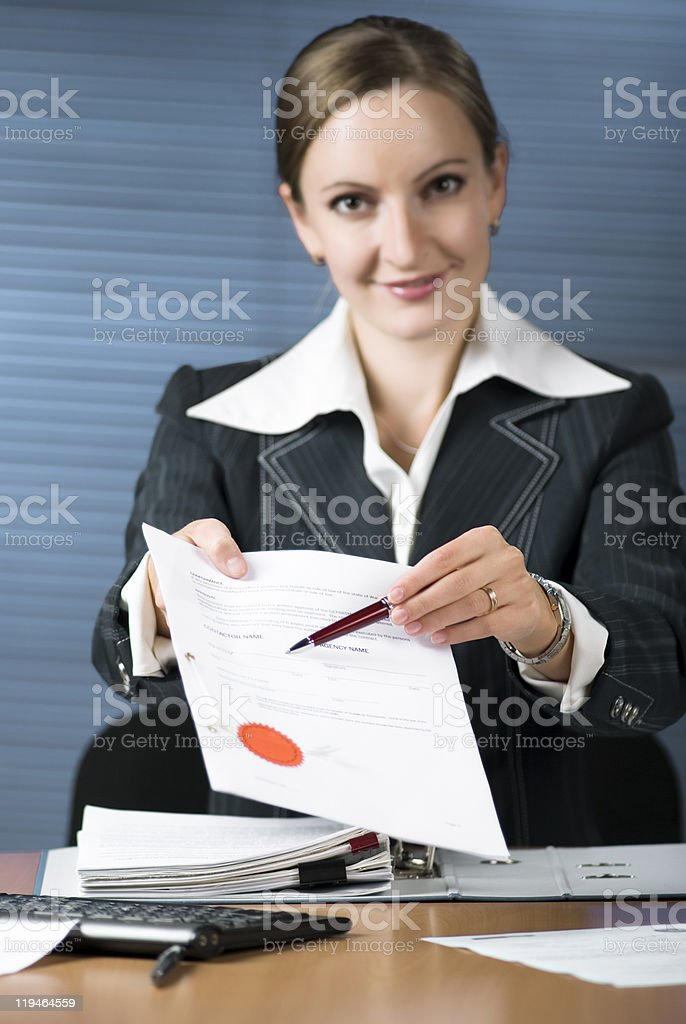 Sign here royalty-free stock photo