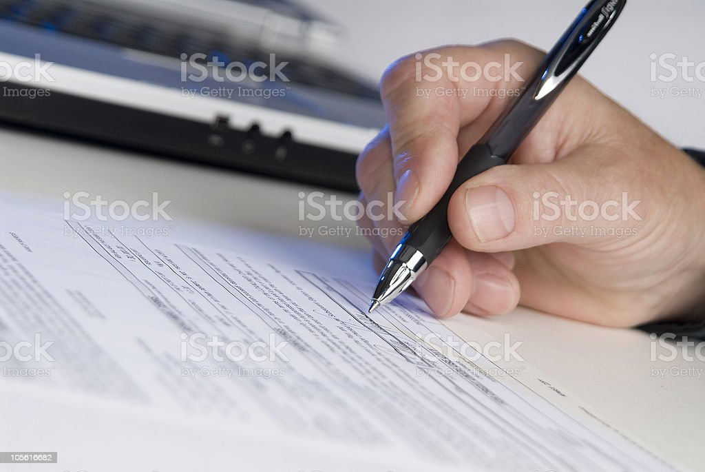 sign here please stock photo