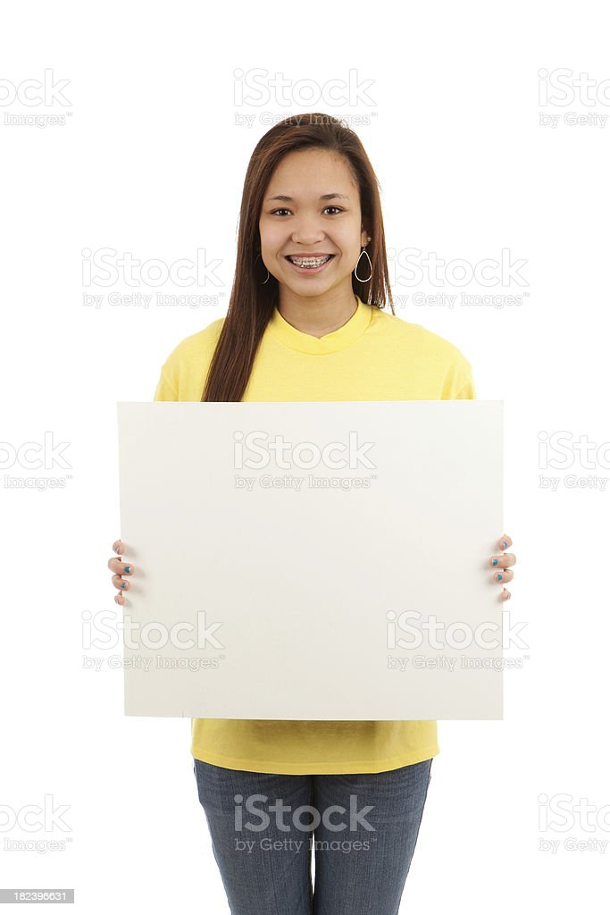 Sign Holder stock photo