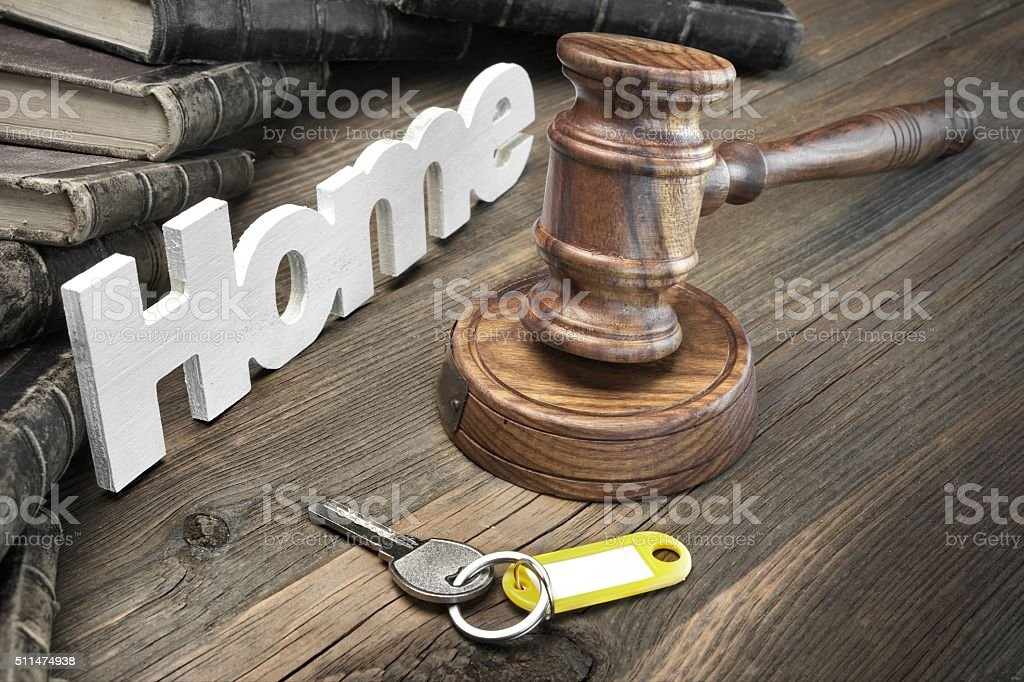 Sign Home stock photo