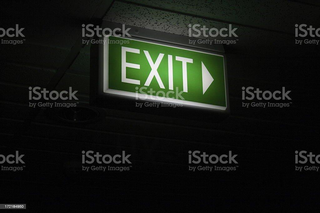Sign - Illuminated Emergency Exit royalty-free stock photo