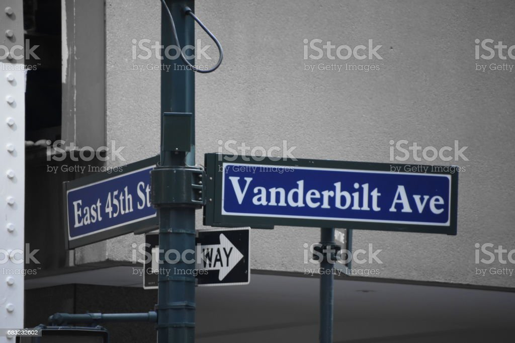 STREET sign in New York stock photo