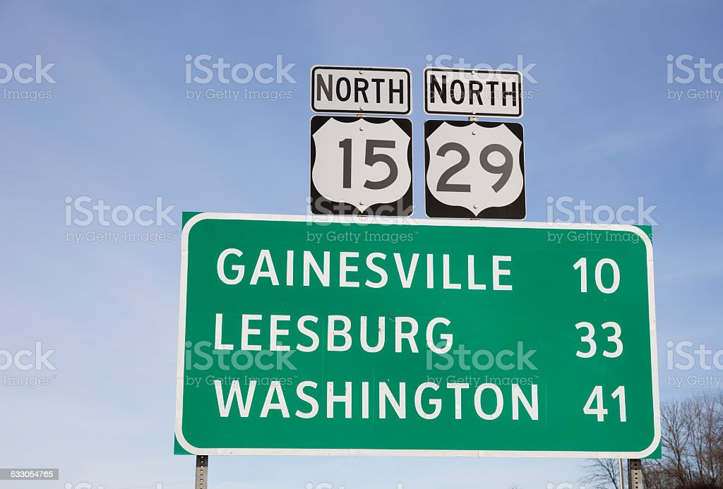 Sign in Northern Virginia stock photo
