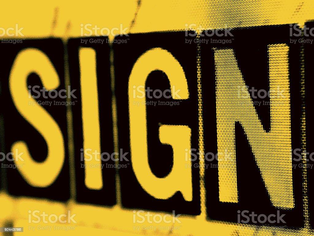 Sign in Orange royalty-free stock photo