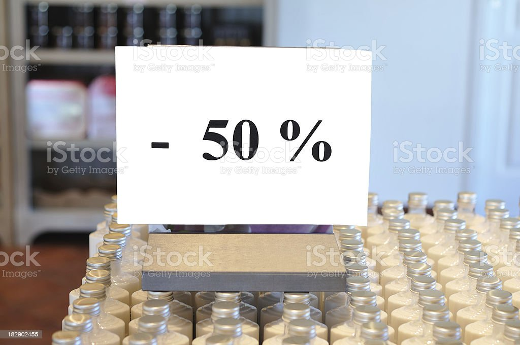 sign in shop with copy space stock photo