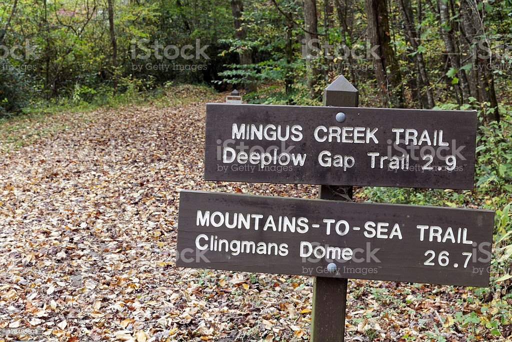 Sign in Smoky Mountains royalty-free stock photo