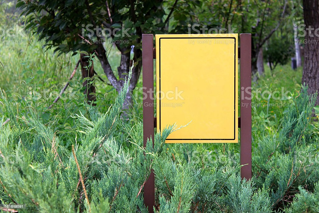 Sign in the jungle royalty-free stock photo
