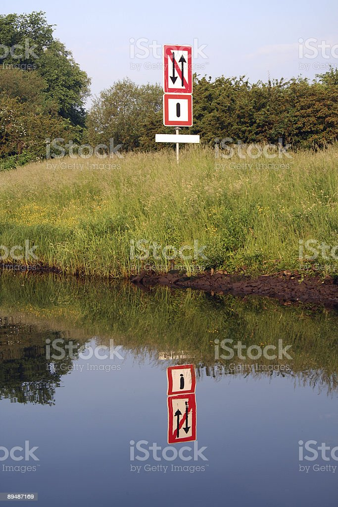 sign in the nature stock photo