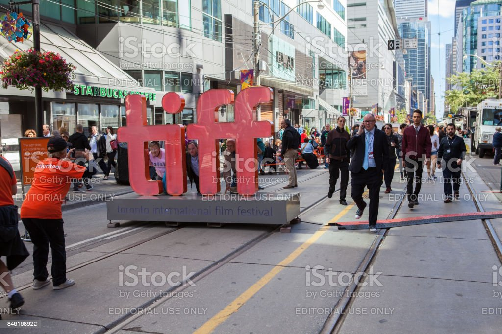 TIFF Sign in Toronto stock photo