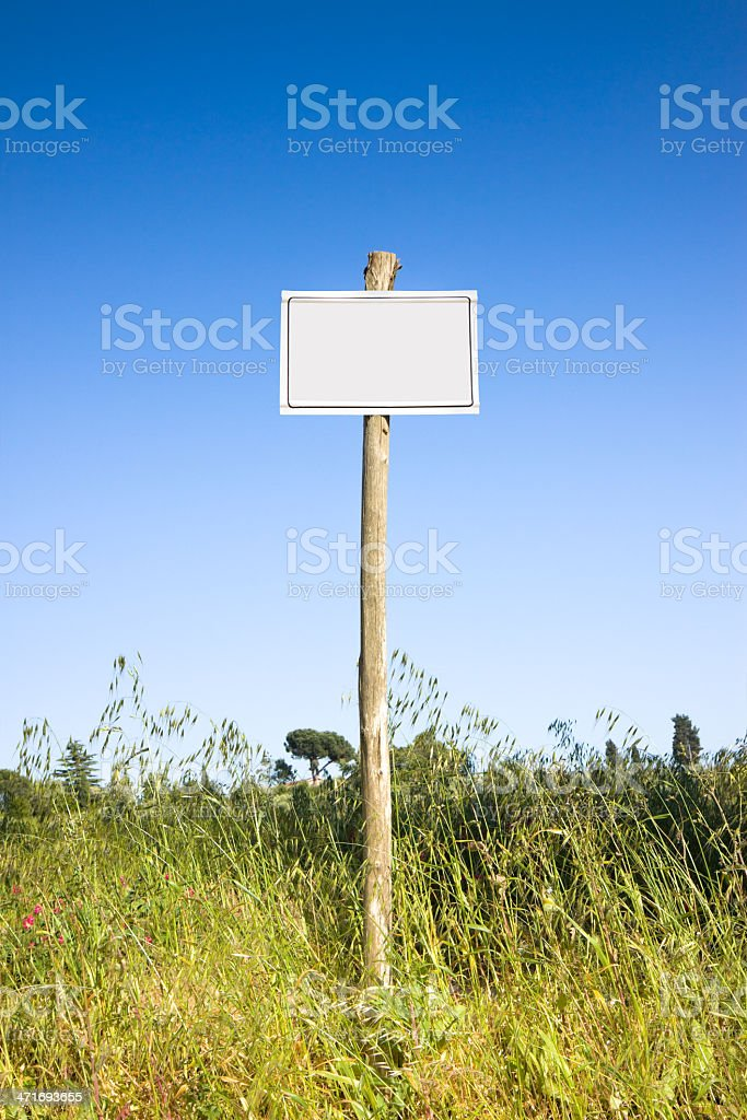 Sign indicating in the countryside. royalty-free stock photo
