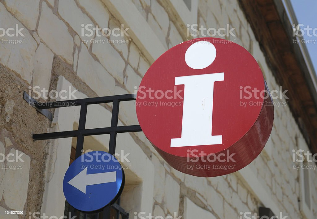 Sign Information royalty-free stock photo
