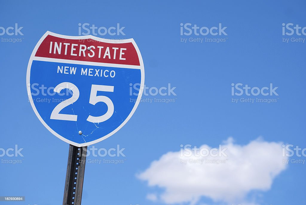 sign interstate blue sky cloud royalty-free stock photo
