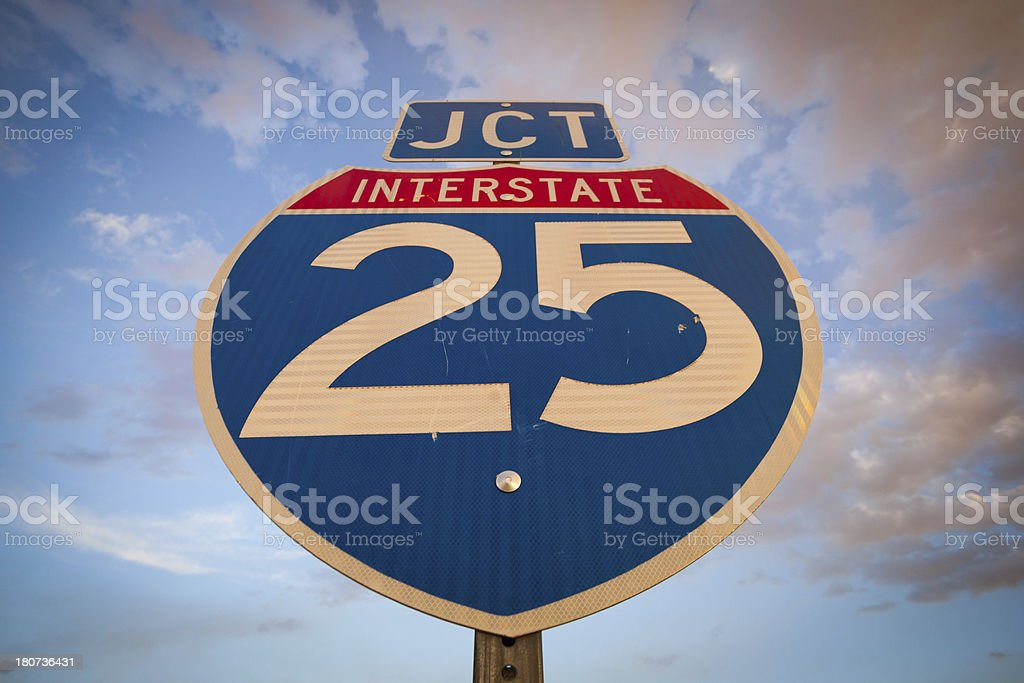 sign interstate sky royalty-free stock photo