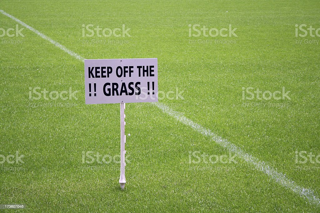 Sign - Keep Off The Grass stock photo