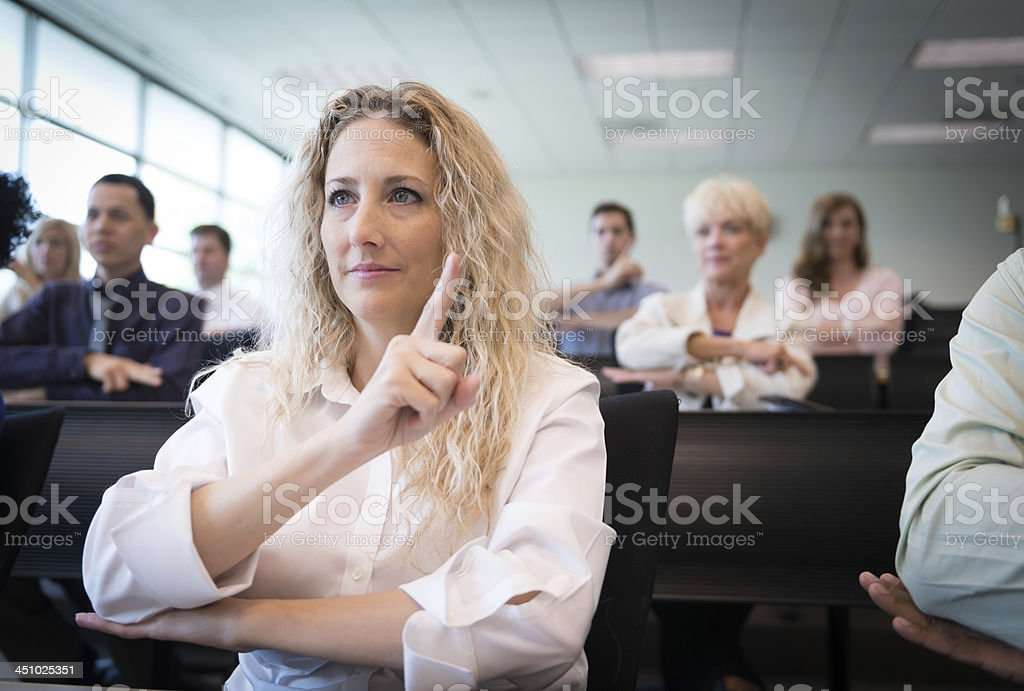 Sign Language Class stock photo