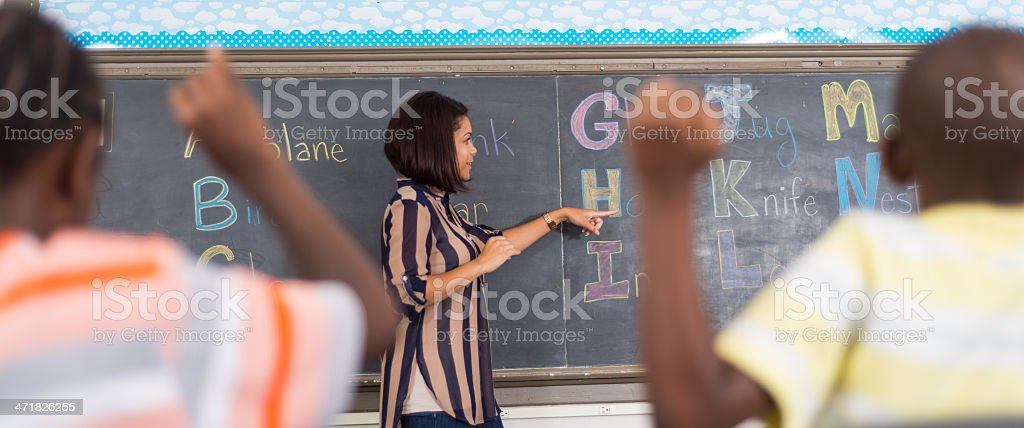 Sign Language Class royalty-free stock photo