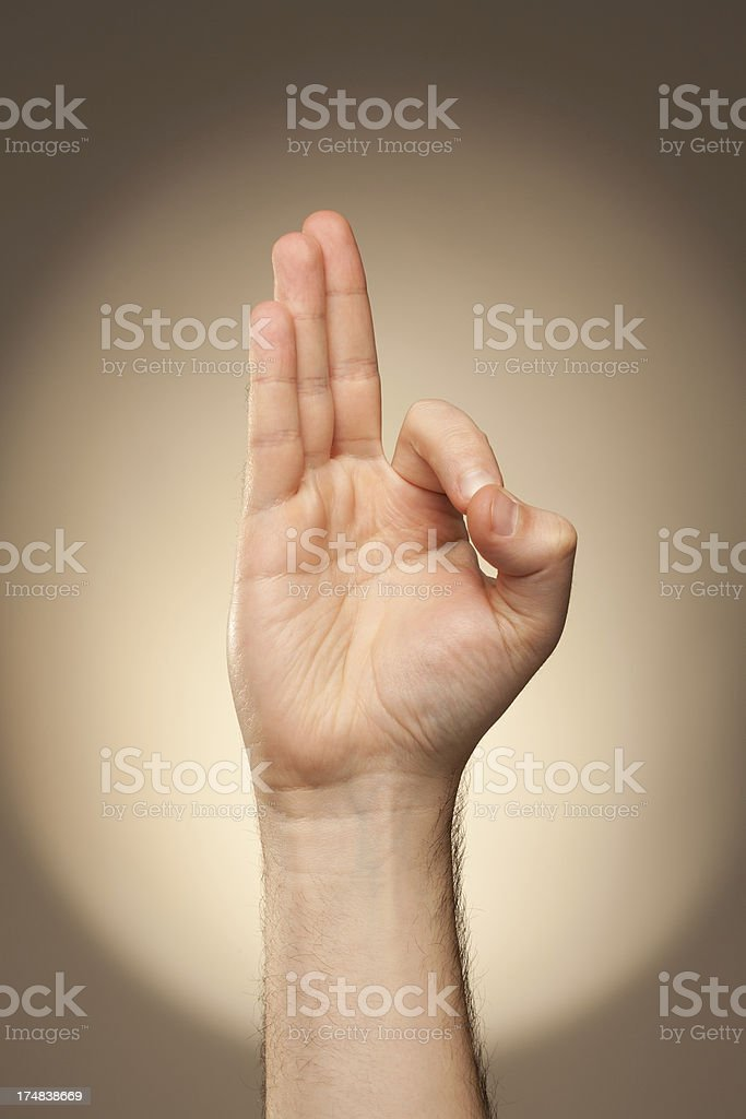 Sign Language - F royalty-free stock photo