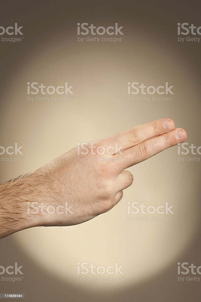 Sign Language - H royalty-free stock photo