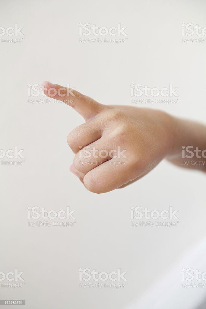 Sign language J royalty-free stock photo