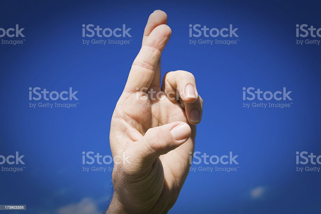 Sign Language Letter R royalty-free stock photo