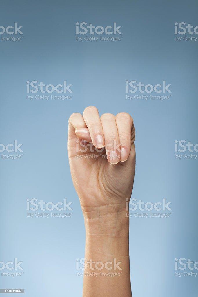 Sign Language - M royalty-free stock photo