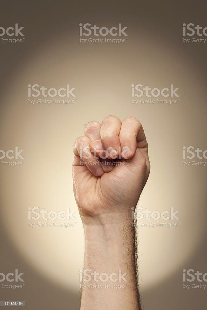 Sign Language - N royalty-free stock photo