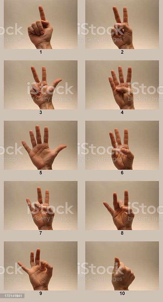 Sign Language Numbers royalty-free stock photo