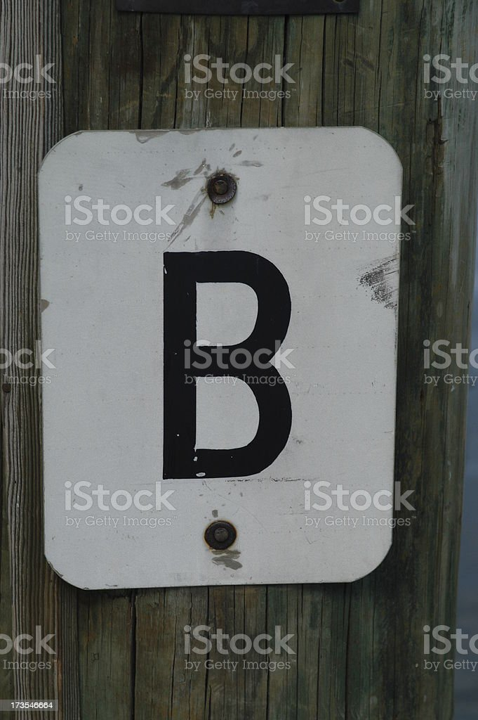 Sign: Letter 'B' royalty-free stock photo