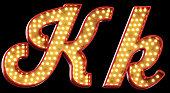 sign light font