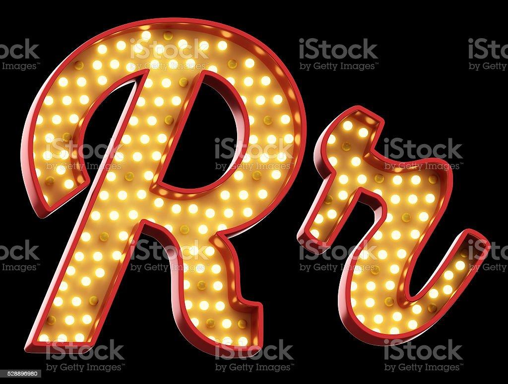 sign light font stock photo