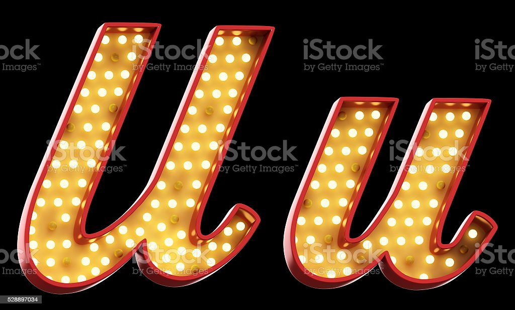 sign light font stock photo