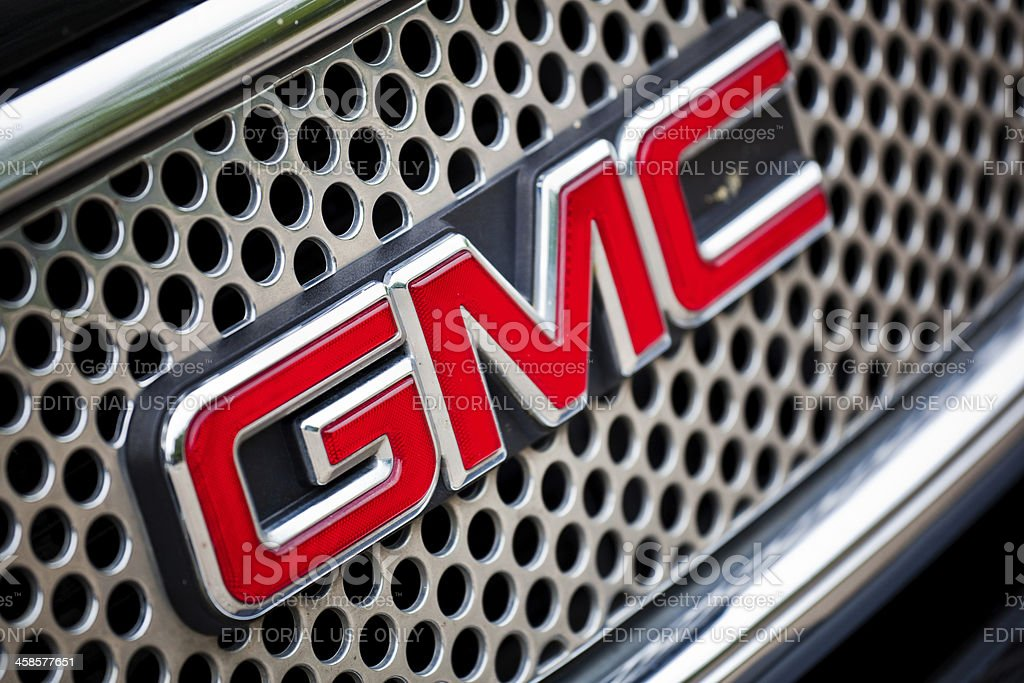 GMC Sign Logo General Motor Company stock photo