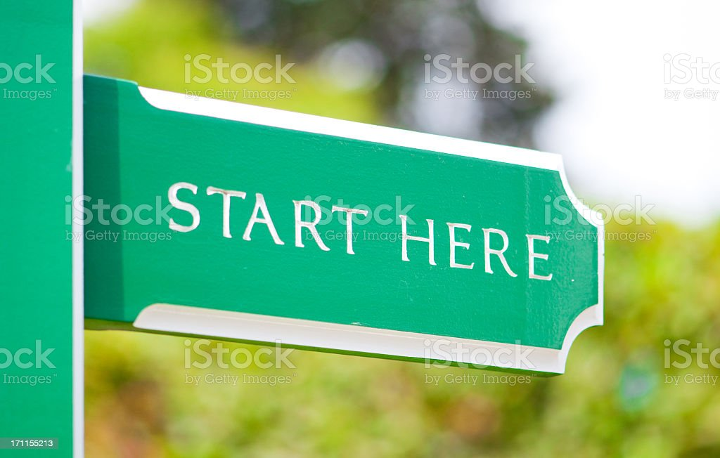 Sign - New Start or Beginning Concept stock photo