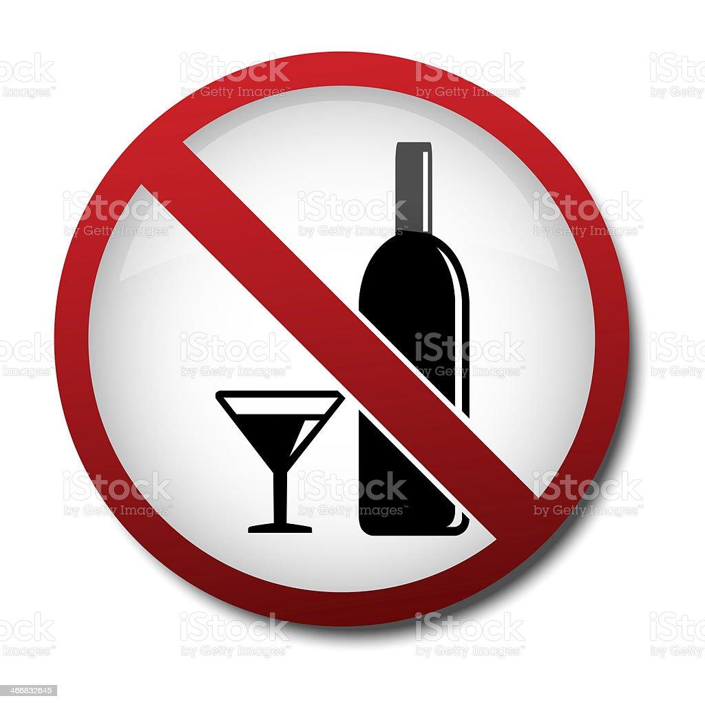 sign no alcohol 2d stock photo