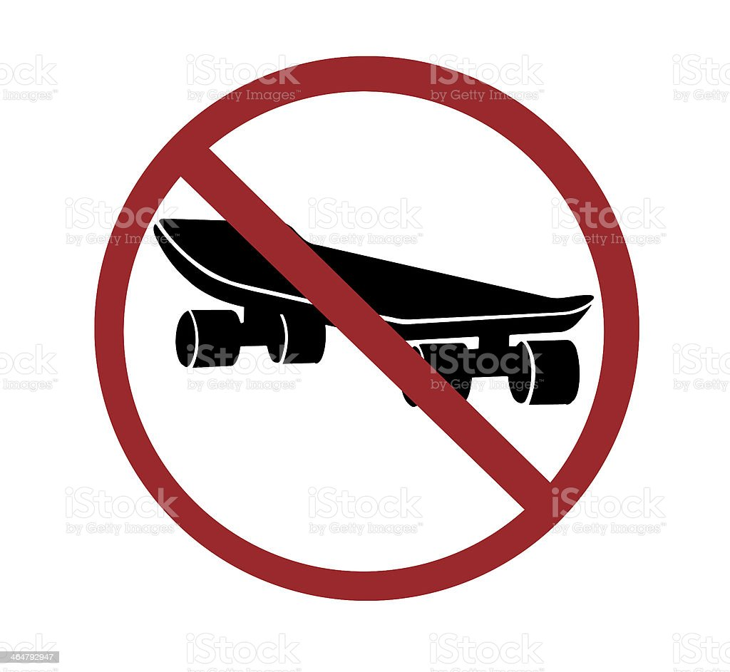 sign - no skateboarding stock photo