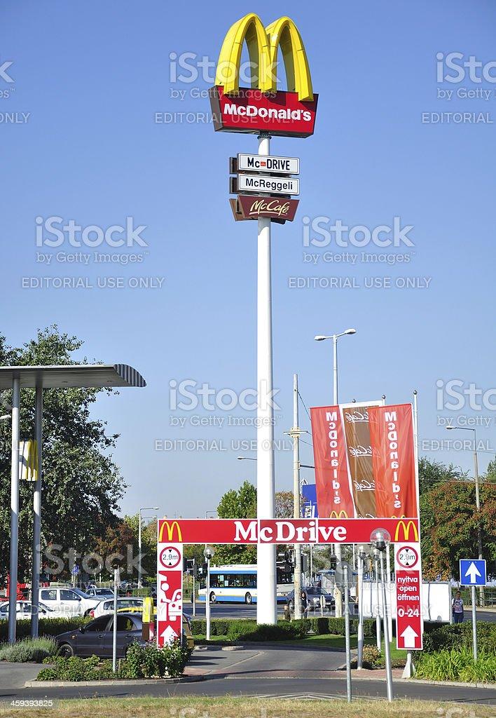Sign of a McDonald's restaurant stock photo