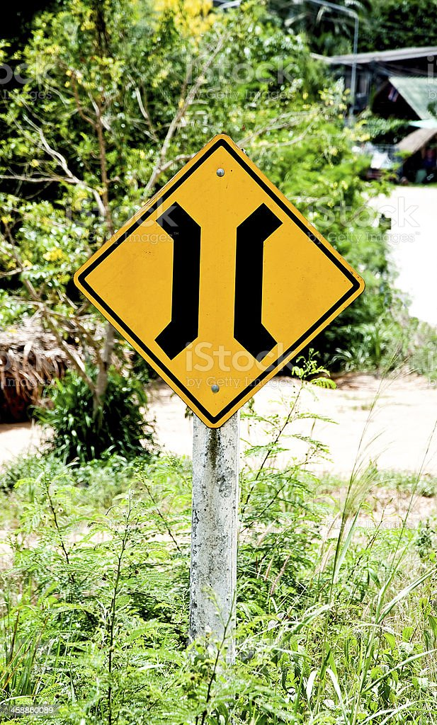 Sign of bridge stock photo