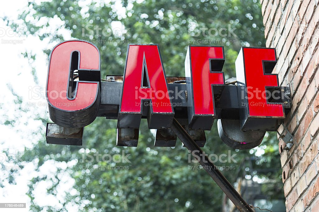 sign of cafe royalty-free stock photo