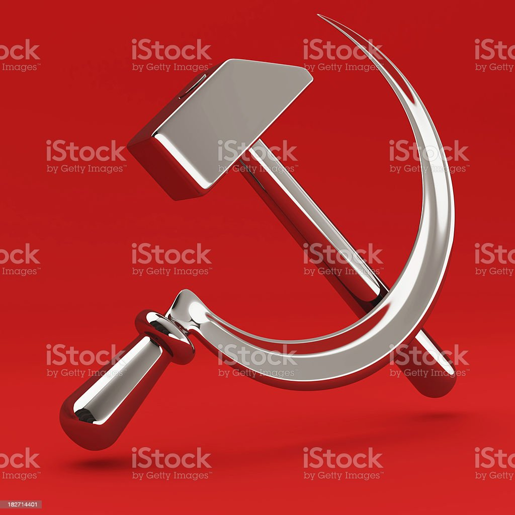 Sign of Communism royalty-free stock photo