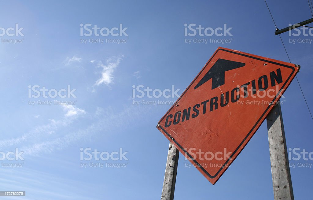 sign of construction stock photo