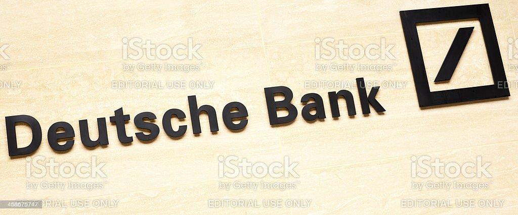 Sign of Deutsche Bank in London stock photo