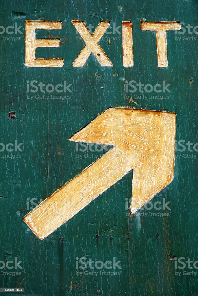 Sign of Exit royalty-free stock photo