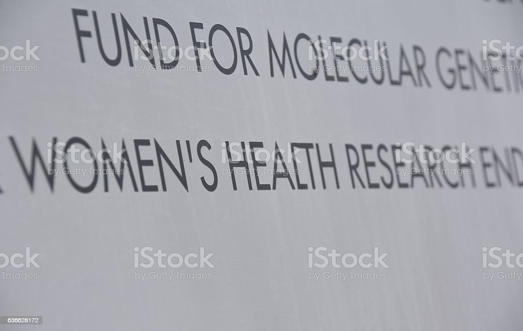 sign of fund for molecular genetion stock photo