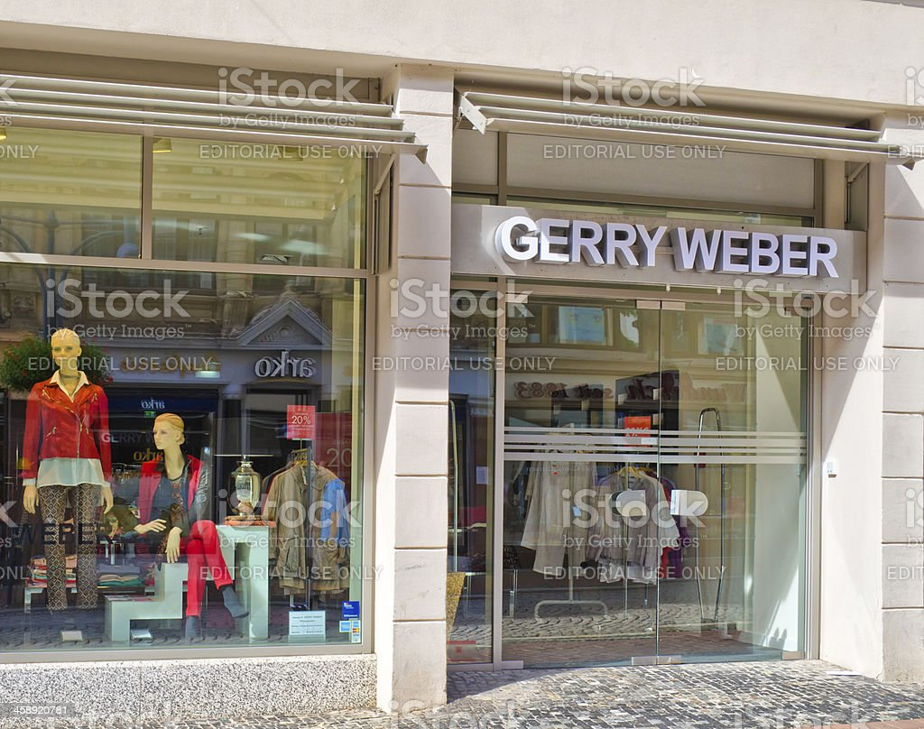 Sign of Gerry Weber stock photo